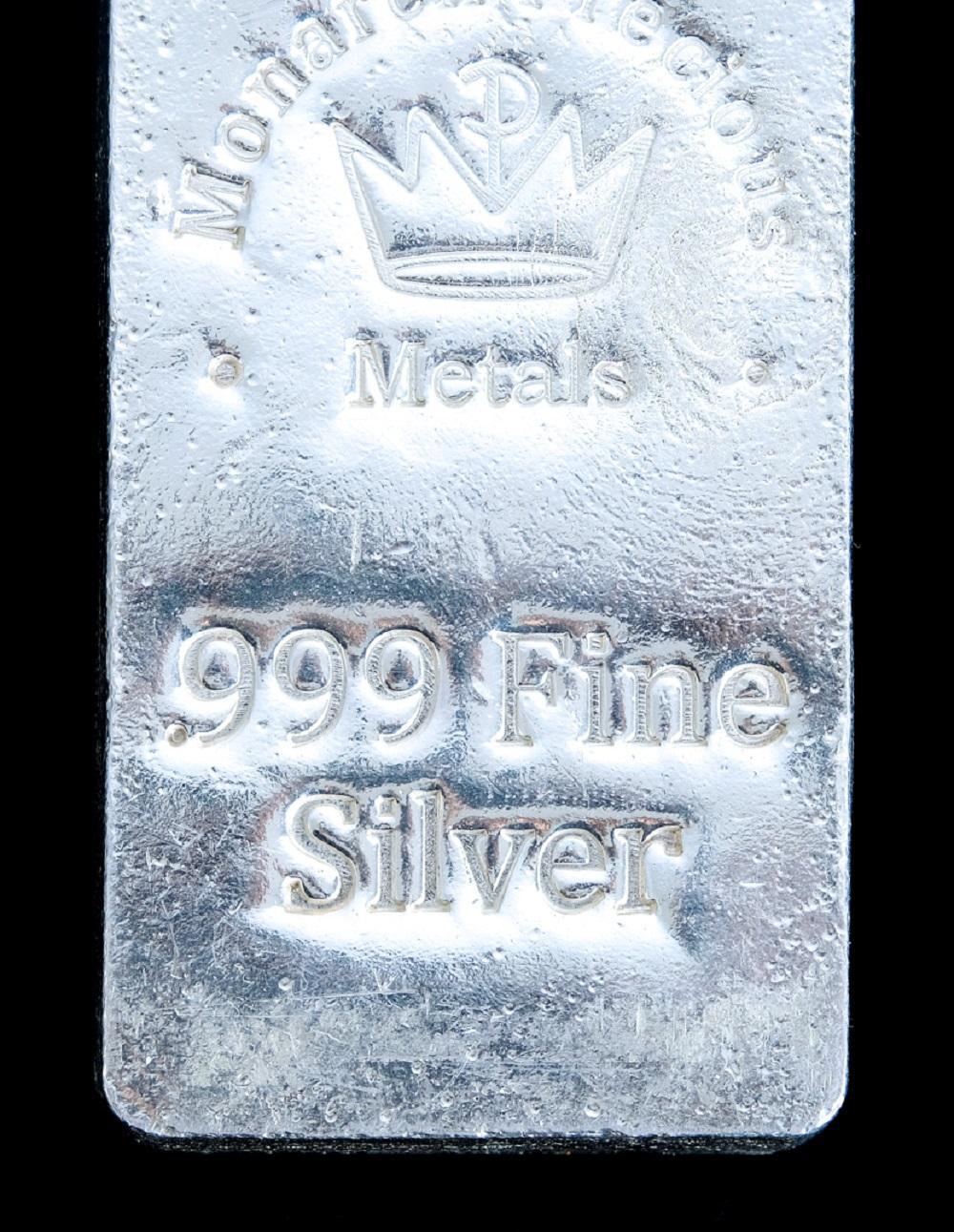 100 oz Monarch Hand Poured Stacker Silver Bar