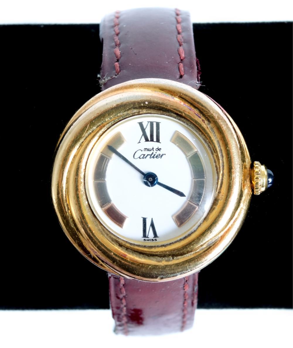Must de Cartier Trinity Vermeil Wrist Watch 2735