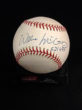 Willie McCovey Autographed Official National