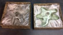 Pair of Oleg Cassini Artist signed Crystal