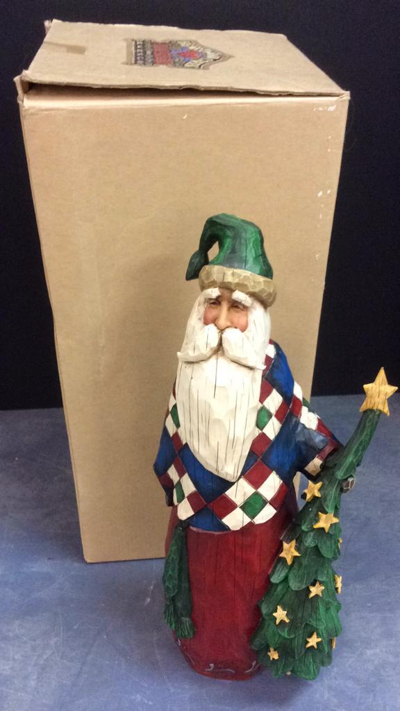 Jim Shore Heartwood Creek Santa Claus and