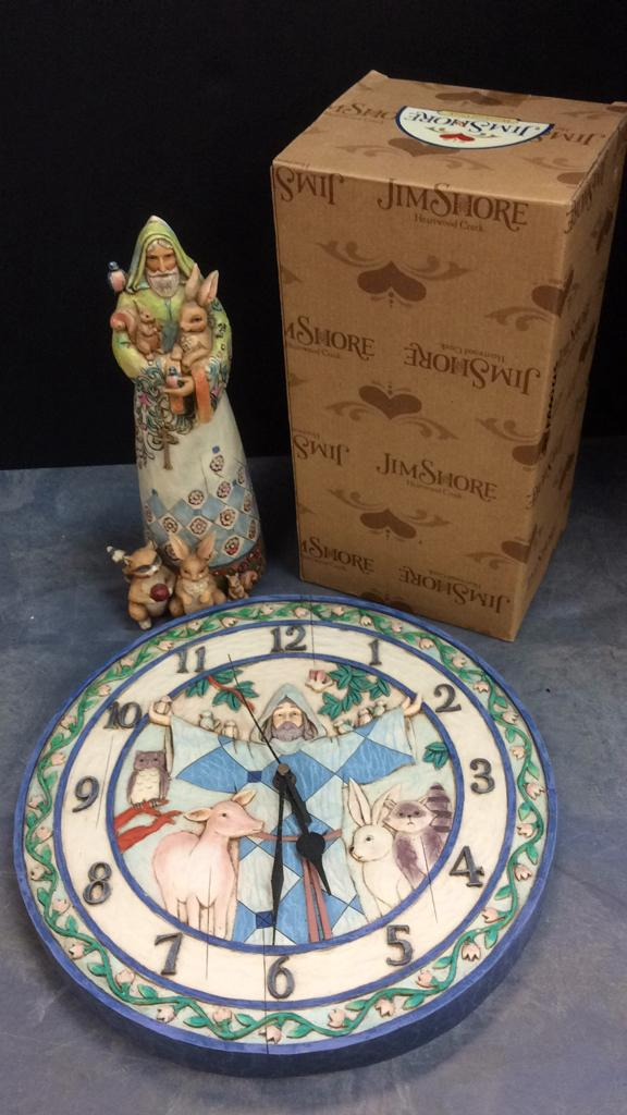 Jim Shore Heartwood Creek Jesus Clock