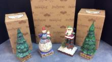 Set of Jim Shore Heartwood Creek Santa Claus,