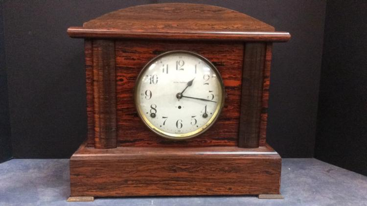 Seth Thomas Wood Mantle Clock  Approximately 13