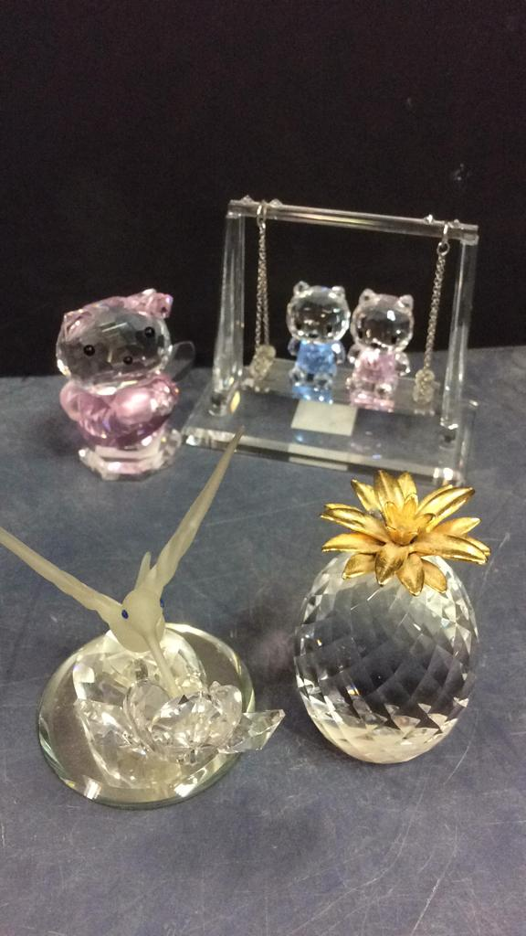 Selection of Crystal Figurines; Tallest is