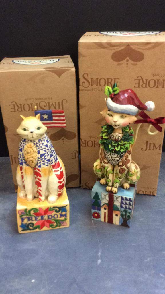 Jim Shore Heartwood Creek Cat Figurines With