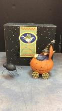 Williraye Studio Witch Pumpkin Buggy With