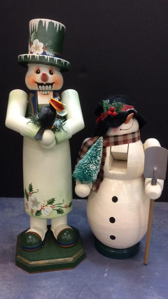 Pair of Snowman Nutcrackers Approximately 15