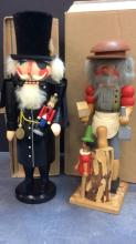 Pair Of Seiffener and Zuber Nutcrackers With