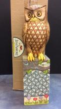 Jim Shore Heartwood Creek Owl Garden Statue