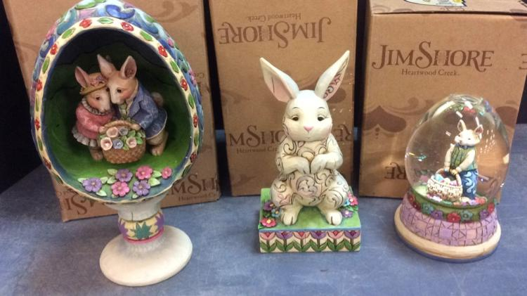 Selection Of Jim Shore Heartwood Creek Easter