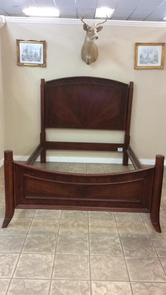 Wood with Burlwood Veneer finish Queen size bed