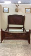 Wood with Burlwood Veneer finish Queen size bed