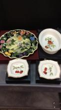 Selection Of Royal Worcester Gold Fluted Dishware