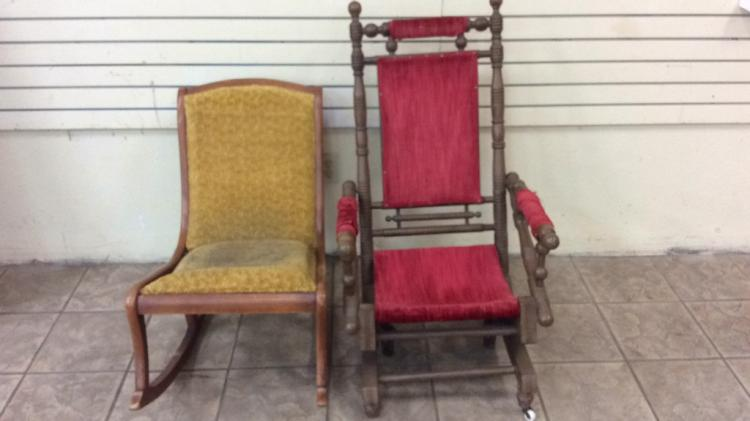 Platform rocker with coordinating maple