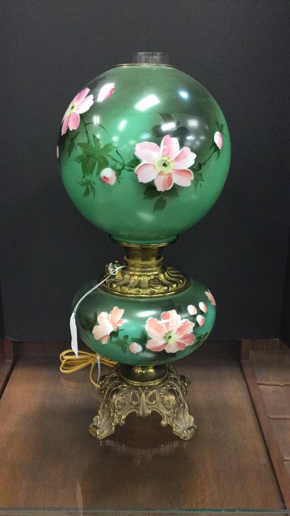 Hand Painted gone with the wind electric lamp
