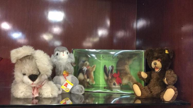 Selection of Steiff plush animals-including 1984
