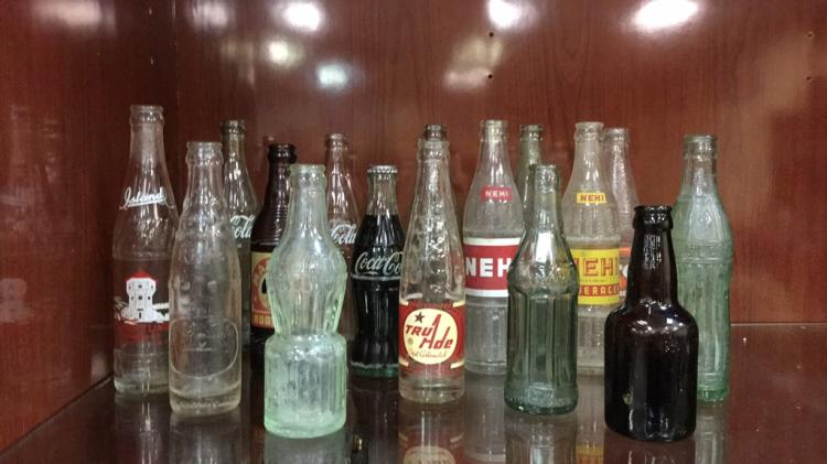 Selection of Antique and vintage soda bottles