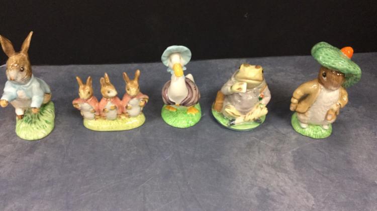 Beatrix Potter Royal Albert Figurines, New in