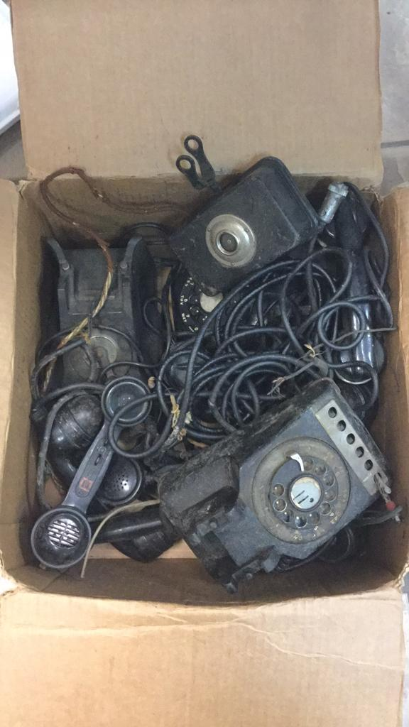 Selection of old telephones