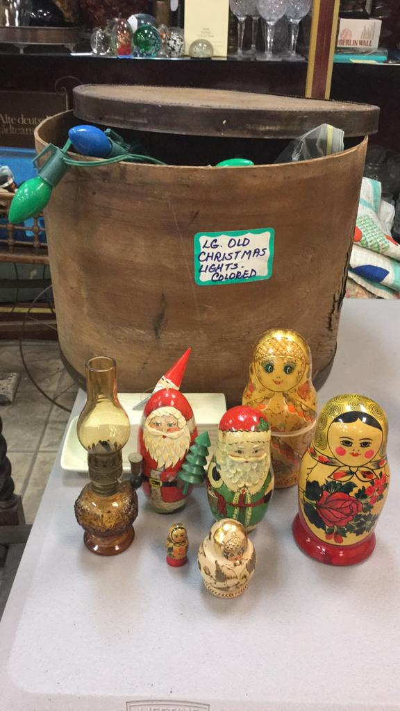 Selection of vintage Christmas items, includes