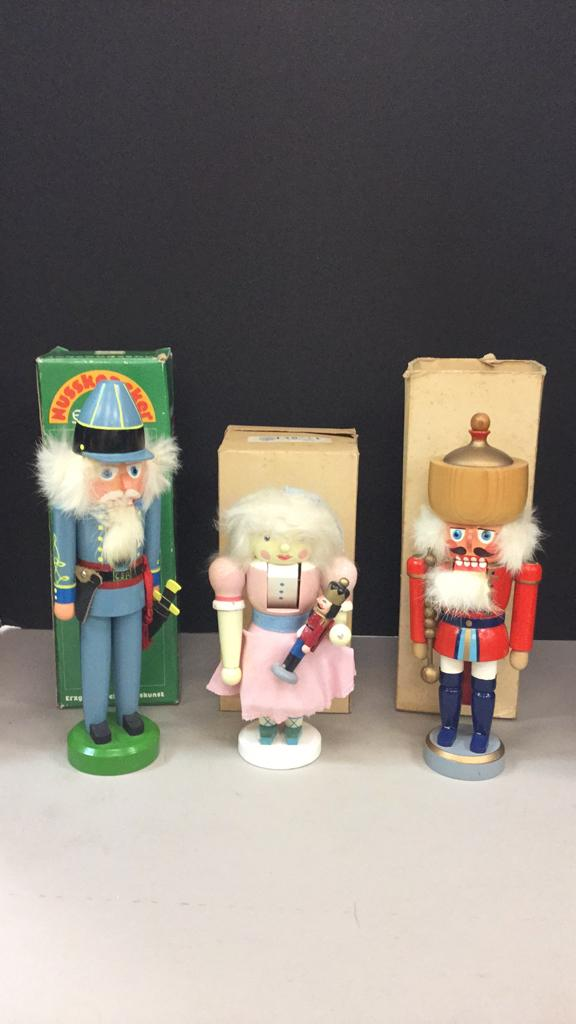 Selection of Nutcrackers-one is Erzgebirgische