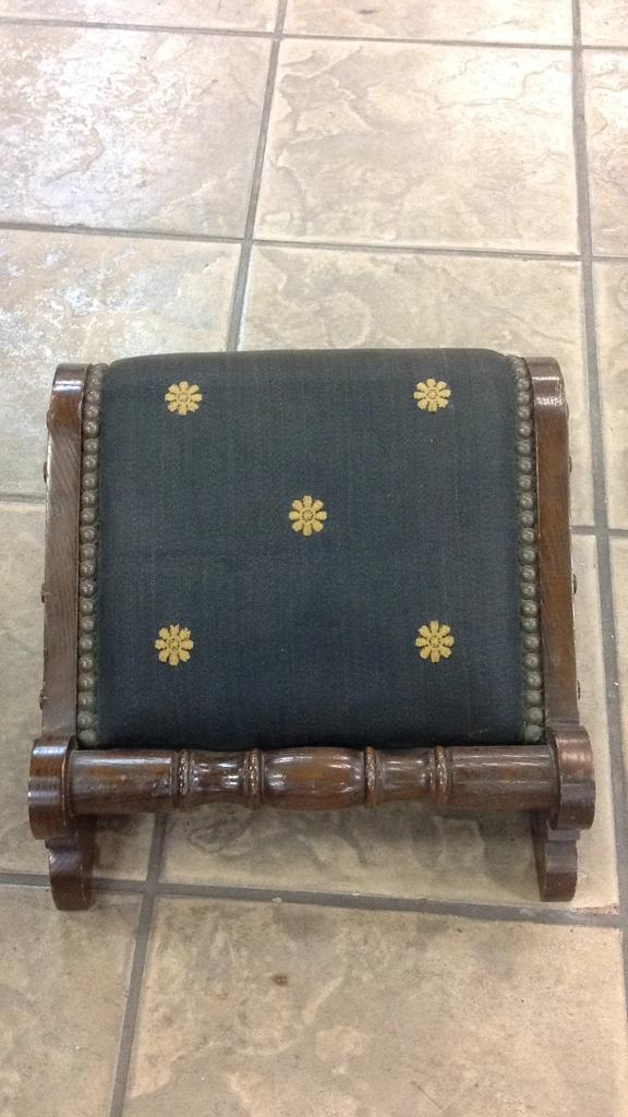 Pleasant Antique Wood Fabric Studded Prayer Kneeling Stool Andrewgaddart Wooden Chair Designs For Living Room Andrewgaddartcom