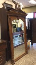Antique highly carved mirror approximately 85