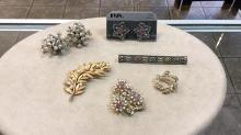 Selection of Vintage Costume Jewelry earrings and