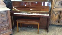 Dietman upright cherry wood piano and bench