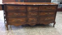 Vintage French provincial style dresser with nine
