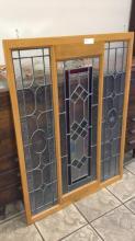 Beautiful Stain glass window approximately 3.5 x