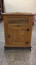 Antique Peter A. Vogt icebox approximately 46