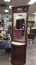 Pulaski furniture hall tree with marble top and