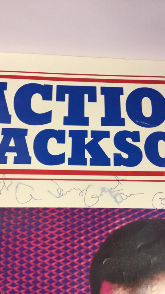 Carl Weathers autographed Action Jackson poster