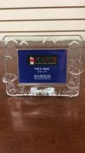 Marqus Waterford Crystal peanut photo frame 3.5