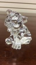Waterford Crystal lion cub approximately 3 inches