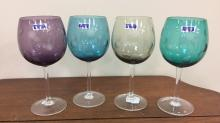 Waterford Marquis Polka dot wine stems set of 4