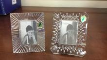 Pair of Waterford Crystal picture frames that