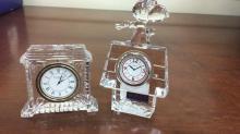 Pair of Waterford crystal desk clocks one is