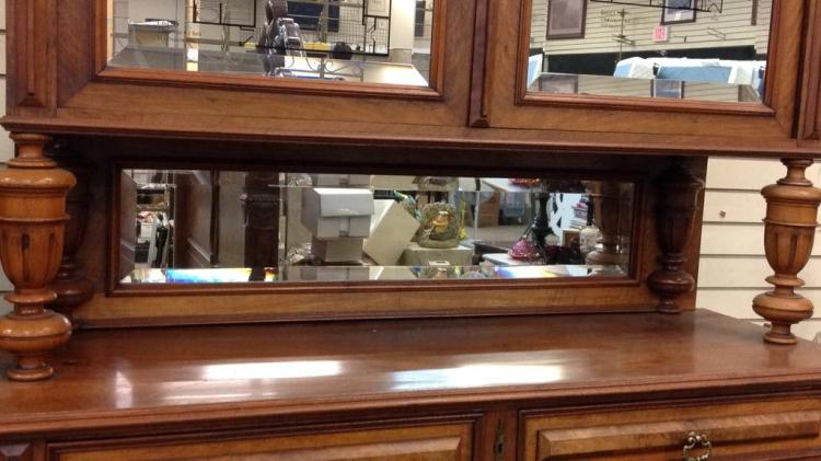 Hunt cabinet with beautiful burl wood veneer and for Burl wood kitchen cabinets