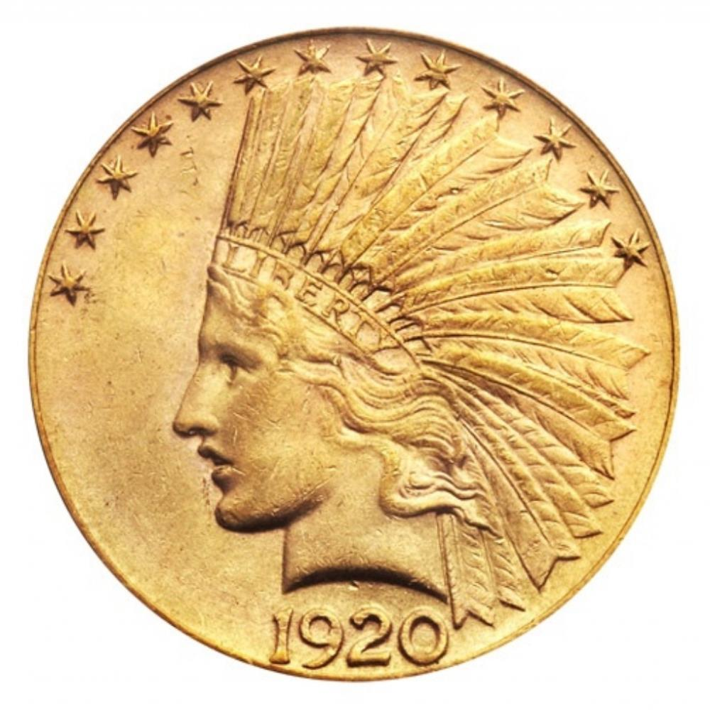 1920-S Indian head $10 Gold Coin