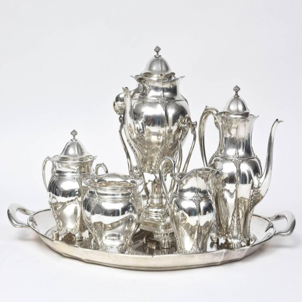 Tiffany and Co. 7 piece sterling silver tea set