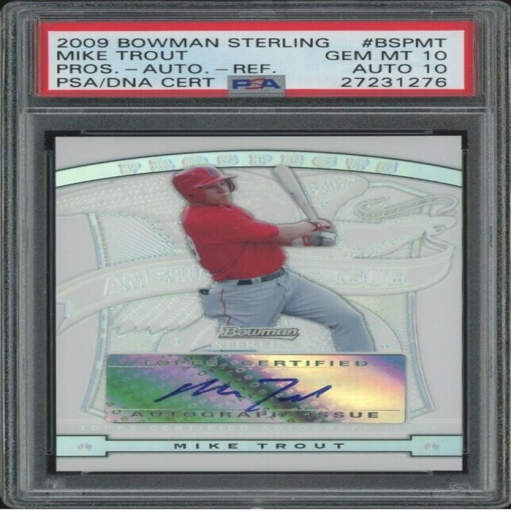 2009 Bowman Sterling Refractor Mike Trout ROOKIE