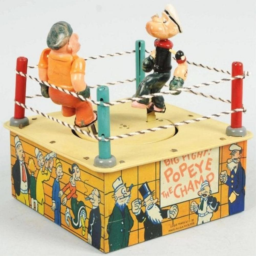 1930s  Marx Popeye The Champ Tin & Celluloid