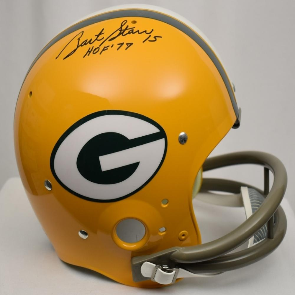 Bart Starr Autographed Full Size Riddel Football