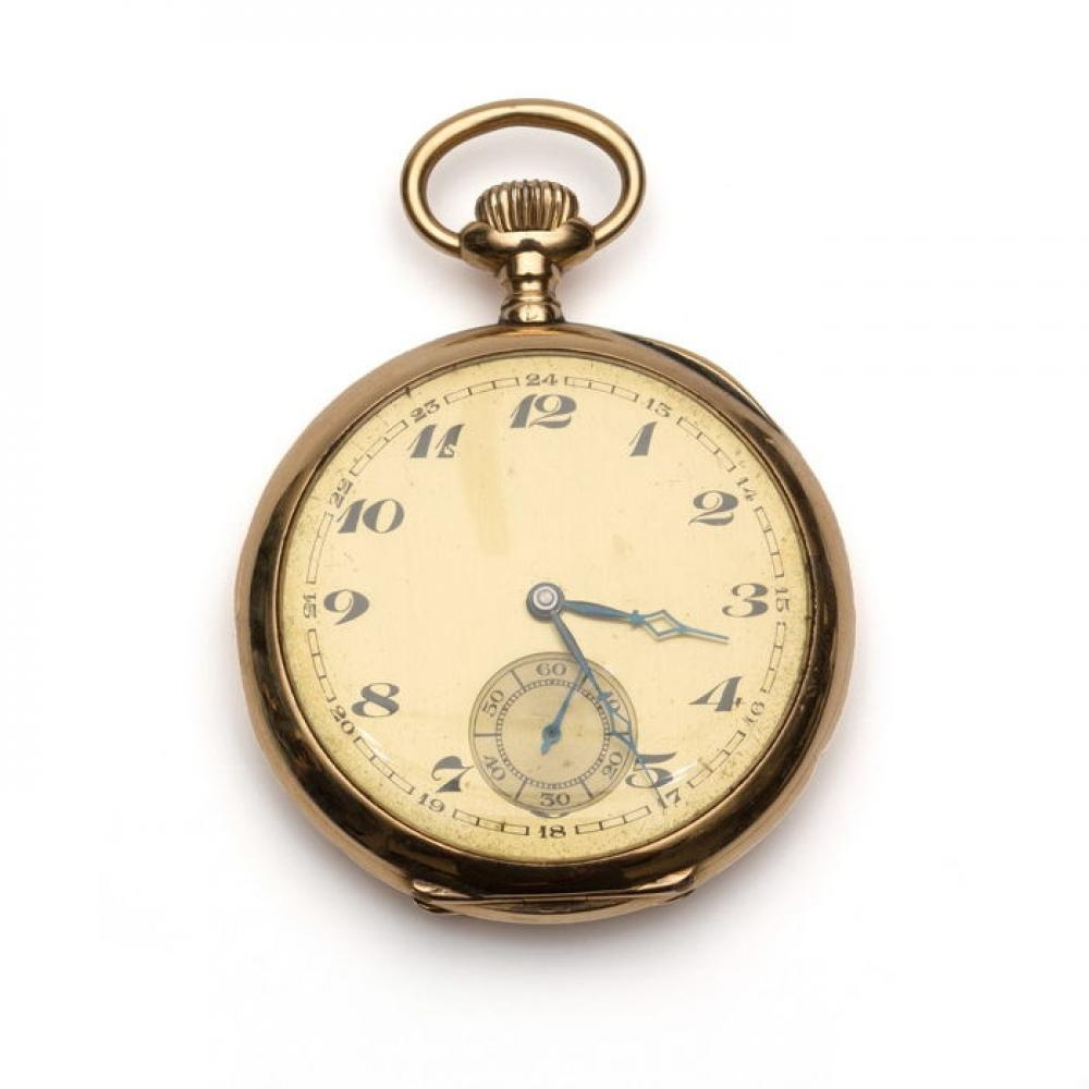 Antoine Frères 14K Gold Pocket Watch Working