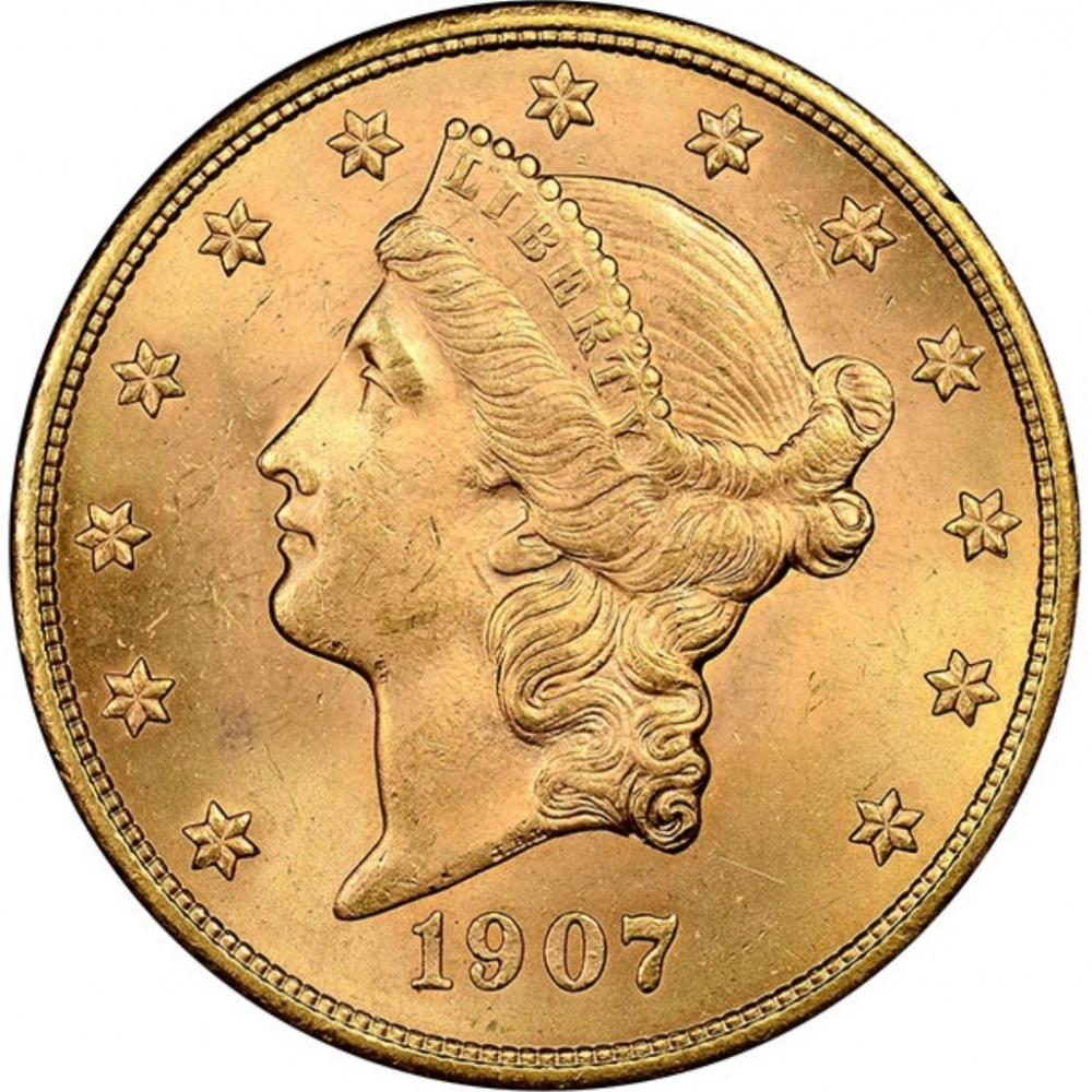1907-S $20 Gold Liberty  Coin