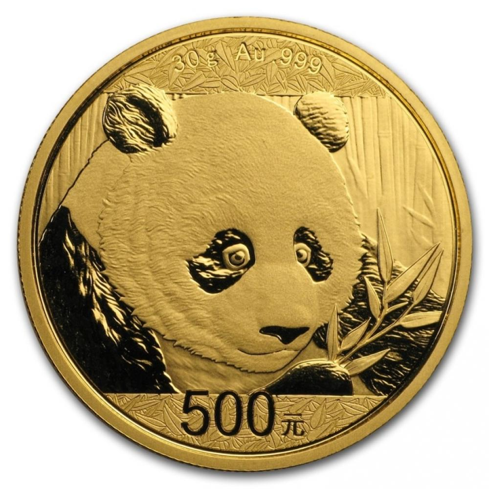 2018 Chinese 30g Gold Panda Coin