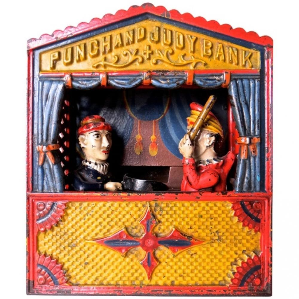 Punch And Judy 1884 Cast Iron Mechanical Bank